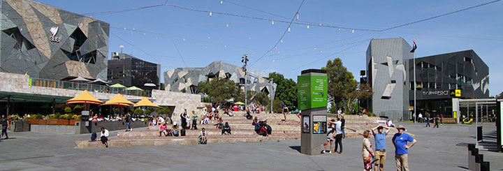 Federation Square Restaurants in Melbourne