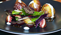 Spiced Lamb Stuffed Figs with Pomegranate Dressing