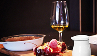 Chocolate Crème Brulee with Cherries