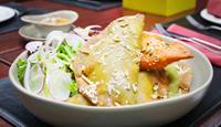 Prawn Quesadilla with Chipotle Mayo