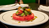 Watermelon, Heirloom Tomato, Fetta and Olive Salad