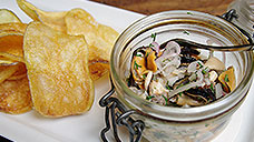 Pickled Mussels & Potato Crisps