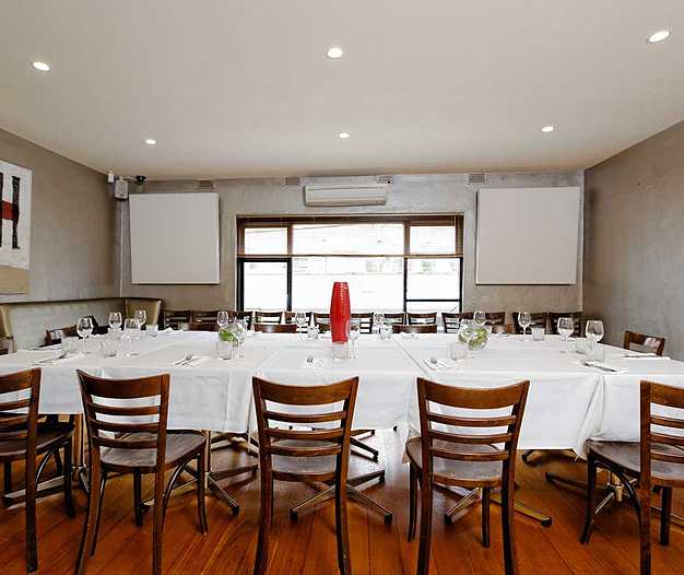 Deco cafe restaurant eastern suburbs small private for Beautiful private dining rooms melbourne